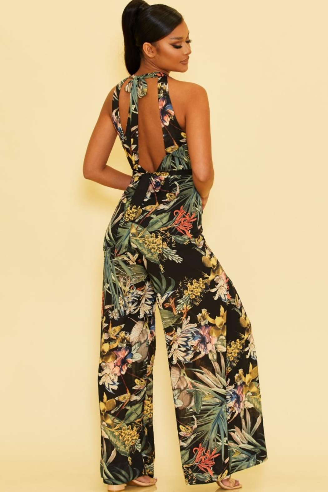 luxxel Tropical Jumpsuit - Front Full Image