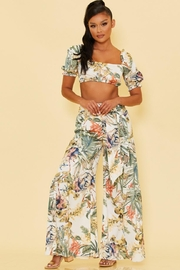 luxxel Tropical Pants Set - Front cropped