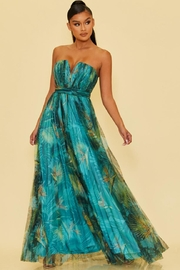 luxxel Tropical Strapless Maxi - Product Mini Image