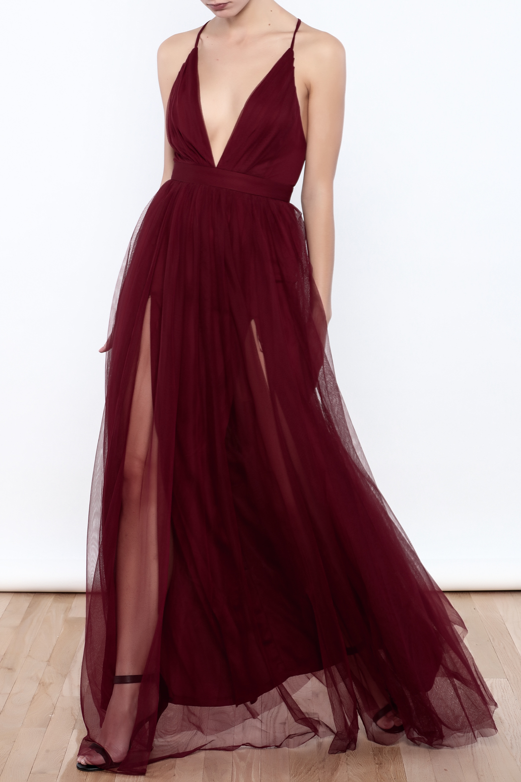 luxxel Tulle Maxi Dress from Manhattan by Dor L Dor