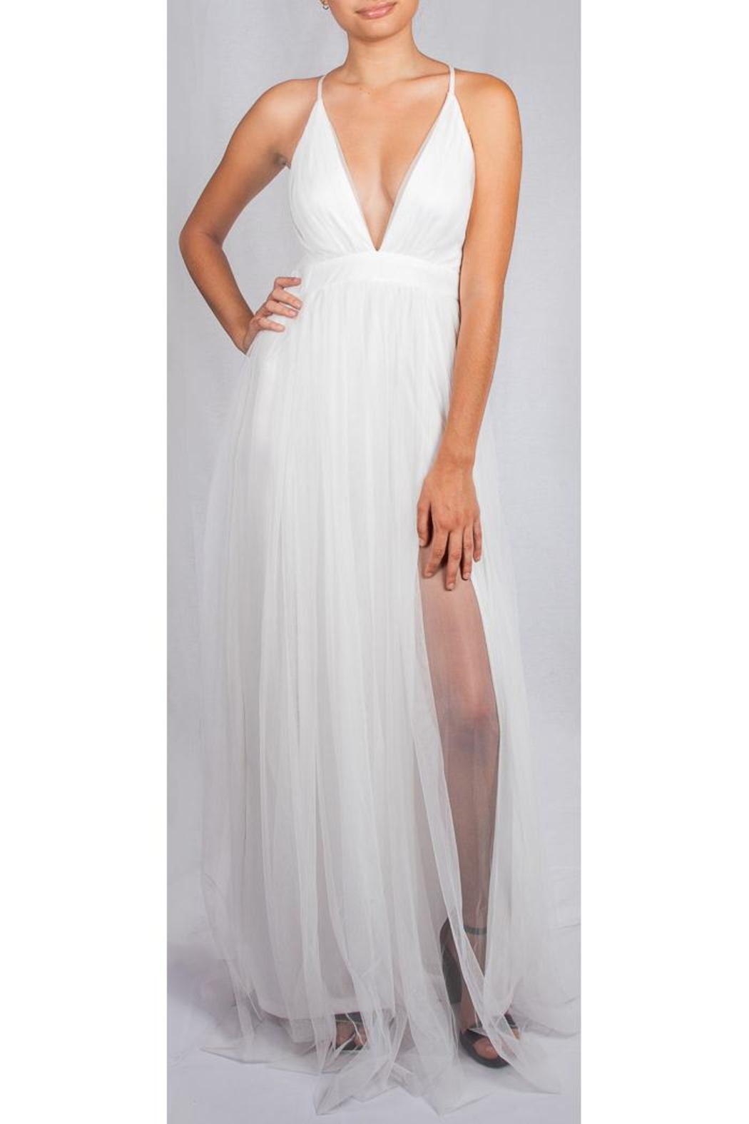 luxxel White Enchantress Gown - Front Cropped Image