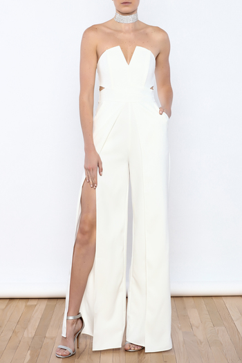 Luxxel White Goddess Jumpsuit From New York City By Dor L