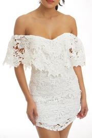 luxxel White Lace Dress - Product Mini Image