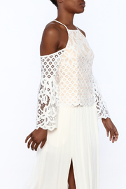luxxel White Lace Top - Product Mini Image