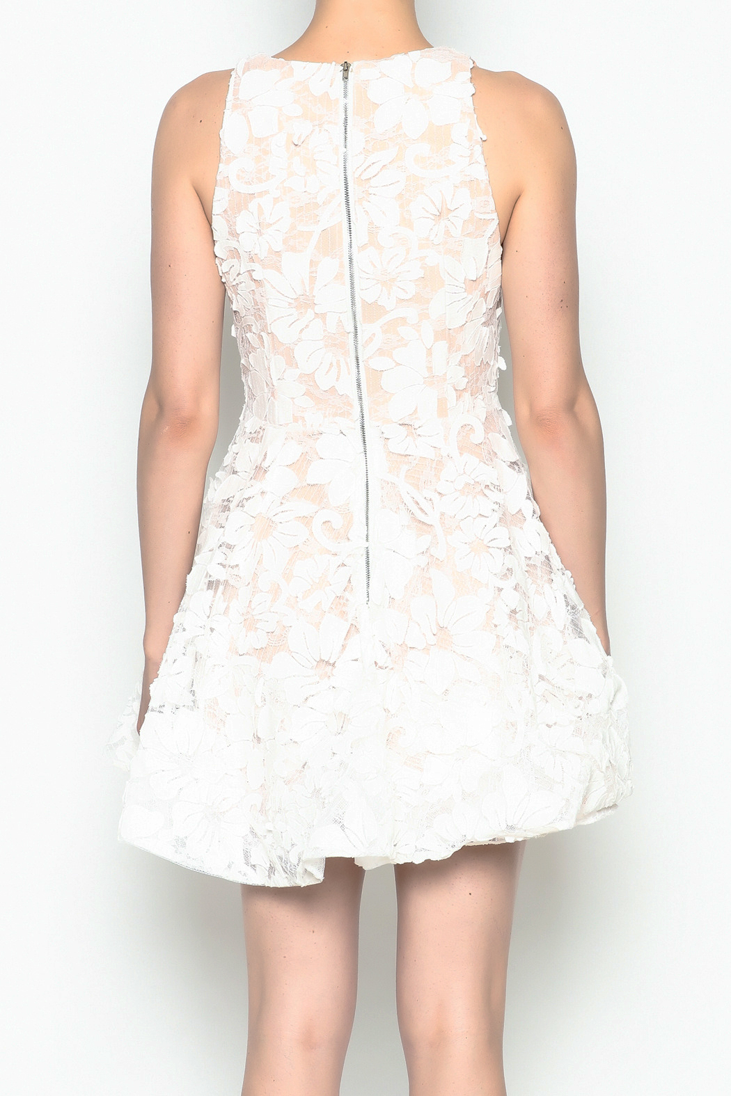 luxxel White Layered Dress - Back Cropped Image