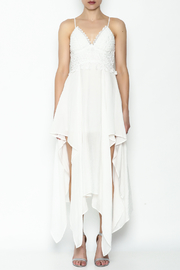 luxxel White Maxi Dress - Front full body