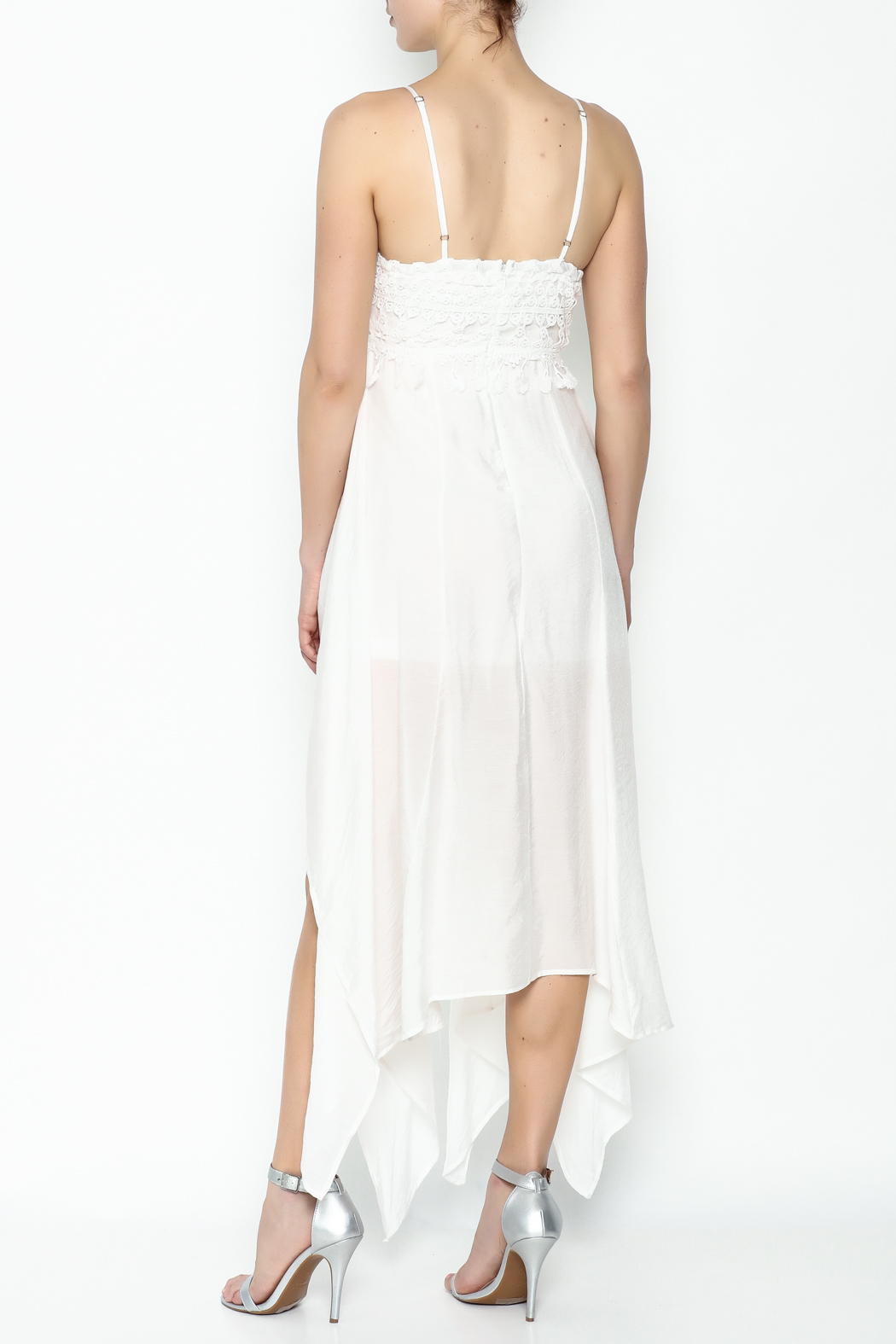 luxxel White Maxi Dress - Back Cropped Image