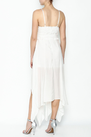luxxel White Maxi Dress - Back cropped