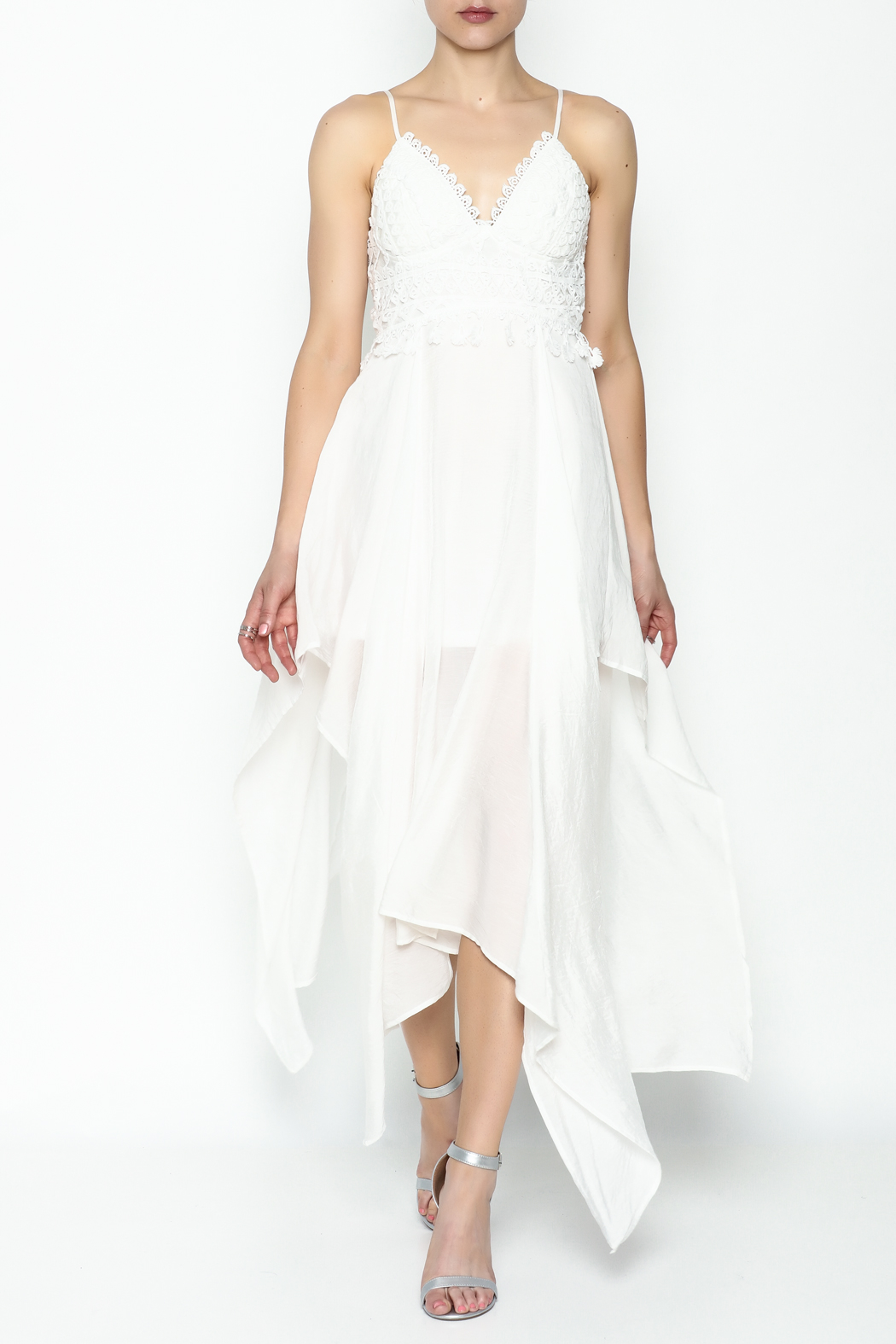 luxxel White Maxi Dress - Main Image