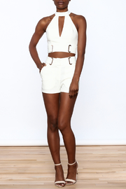 luxxel All White Matching Set - Front full body