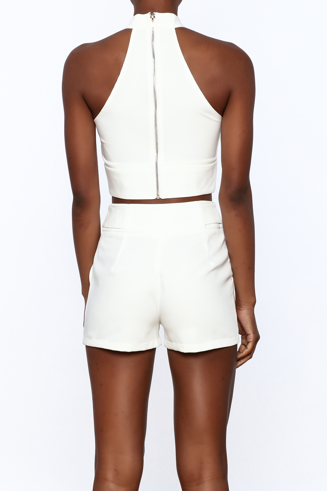 luxxel All White Matching Set - Back Cropped Image