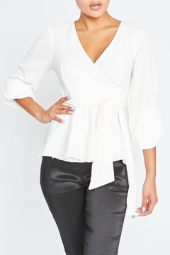 Shoptiques Product: White Wrapped Blouse
