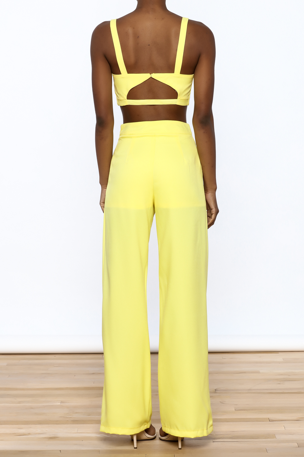 luxxel Bright Yellow Matching Set - Back Cropped Image