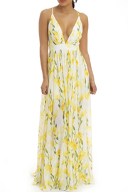 luxxel Yellow Floral Maxi - Front cropped