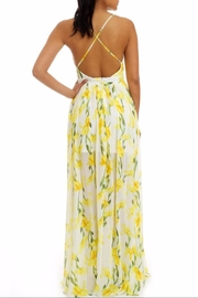 luxxel Yellow Floral Maxi - Front full body