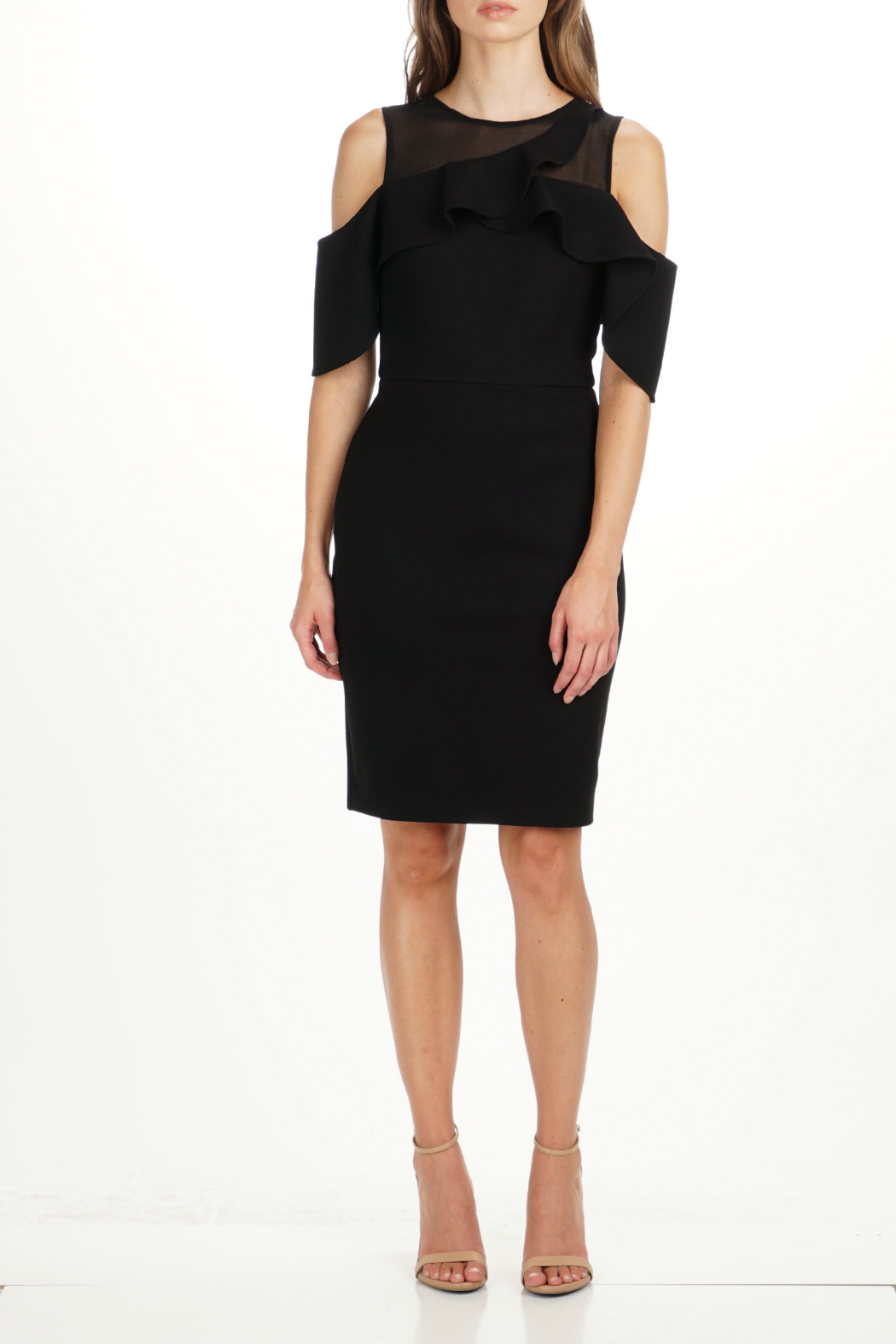 Adelyn Rae Luz OTS Illusion Neck Dress - Front Cropped Image