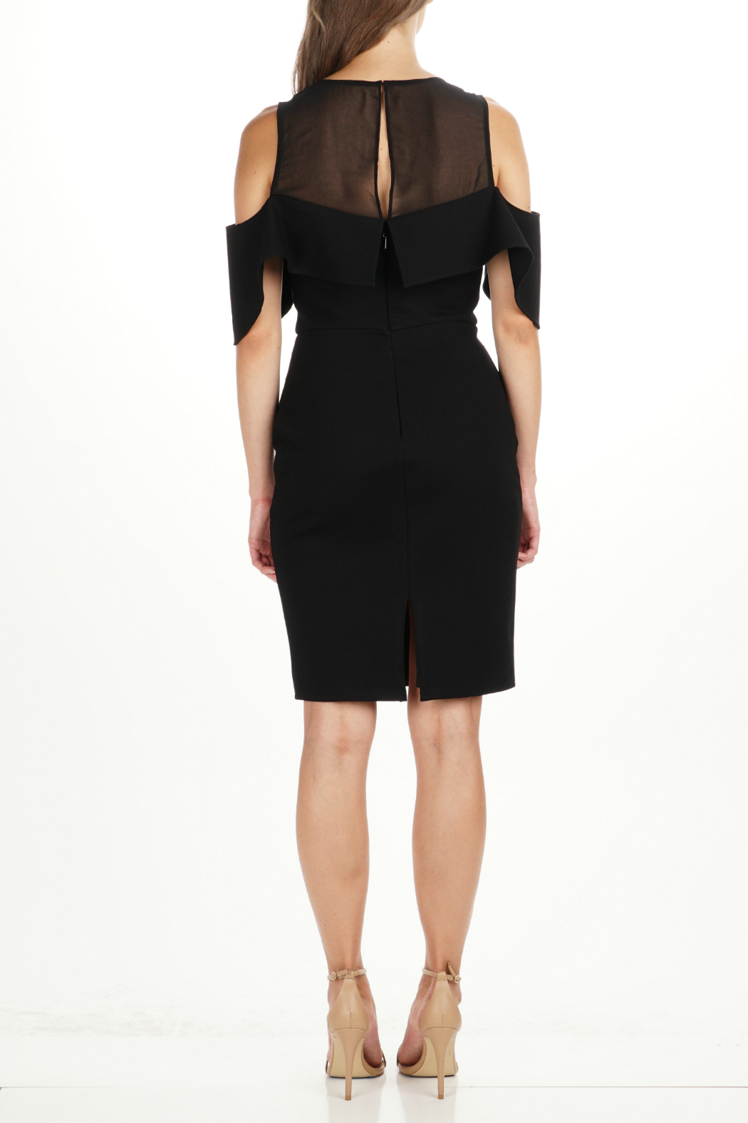 Adelyn Rae Luz OTS Illusion Neck Dress - Front Full Image