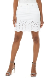 Liverpool  LV Embroid Eyelet Skirt - Product Mini Image