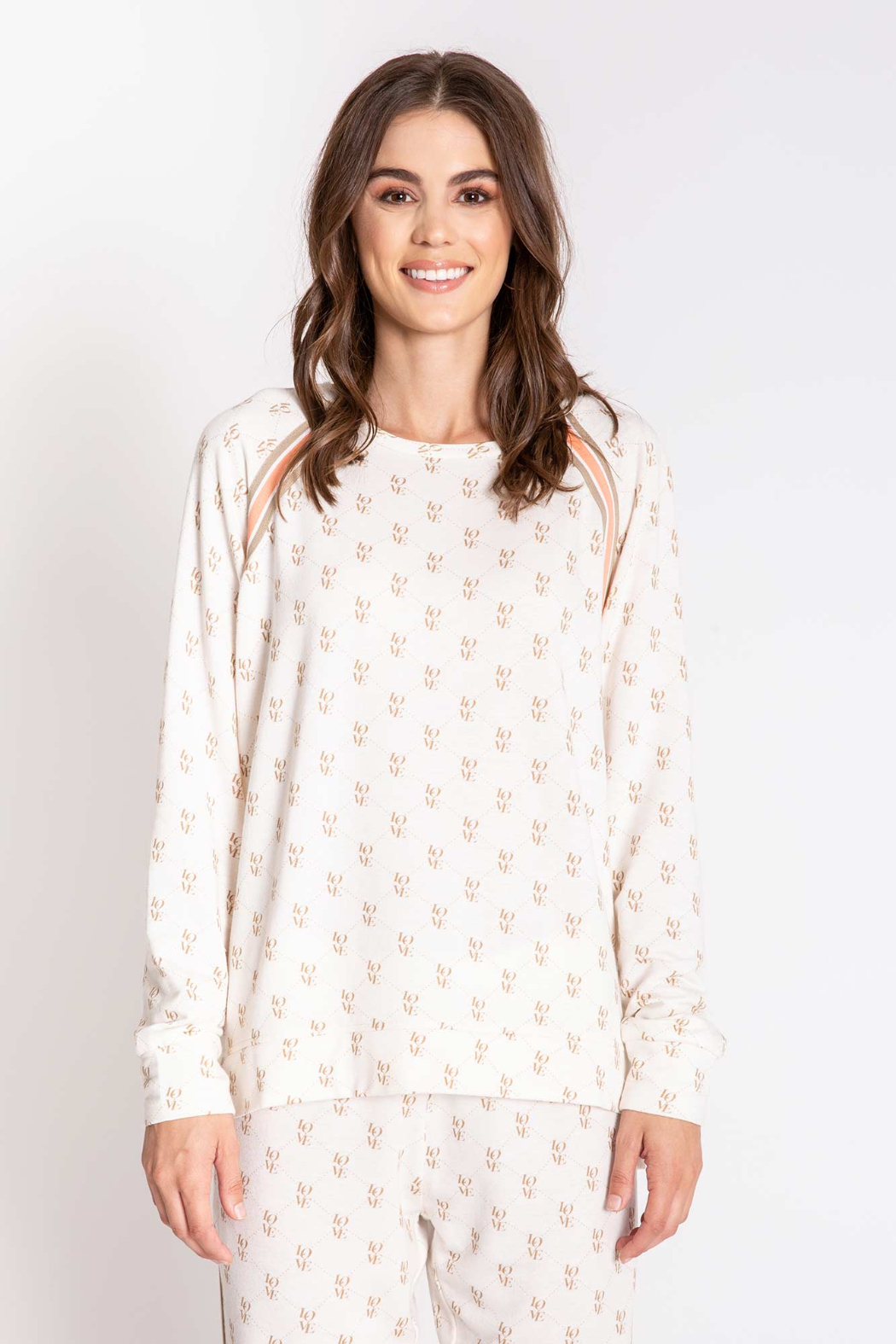 PJ Salvage LV Love Long Sleeve Top - Side Cropped Image