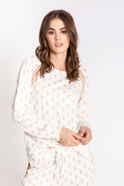 PJ Salvage LV Love Long Sleeve Top - Product Mini Image