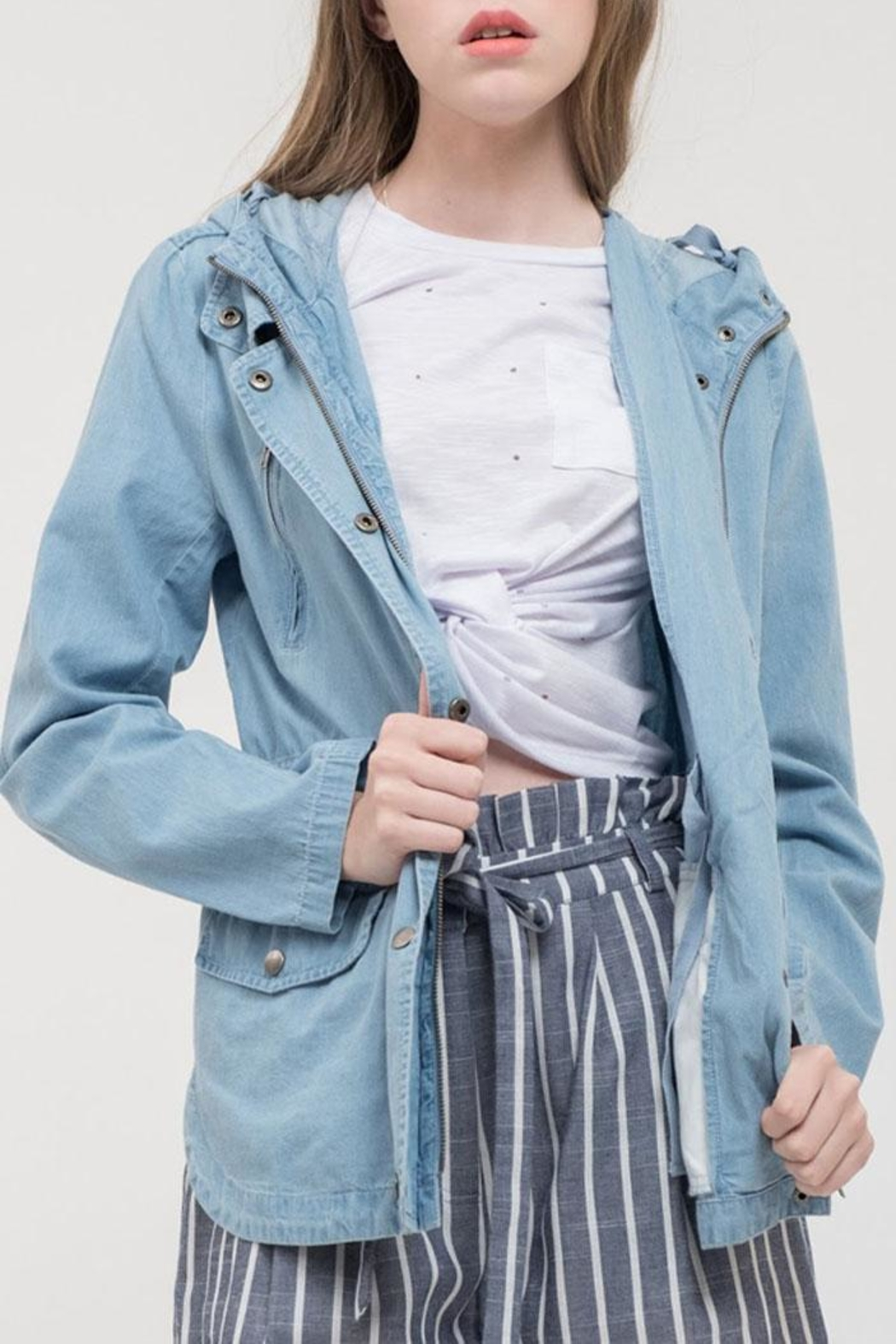 a7293a1b15c3f Lydell NYC Light Blue Jacket from Orange County by Maple Boutique ...