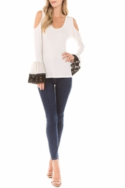 Vava by Joy Hahn Lydia Bell-Sleeve Top - Front cropped