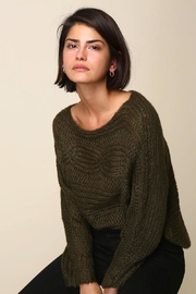 Line & Dot Lydia Green Sweater - Product Mini Image