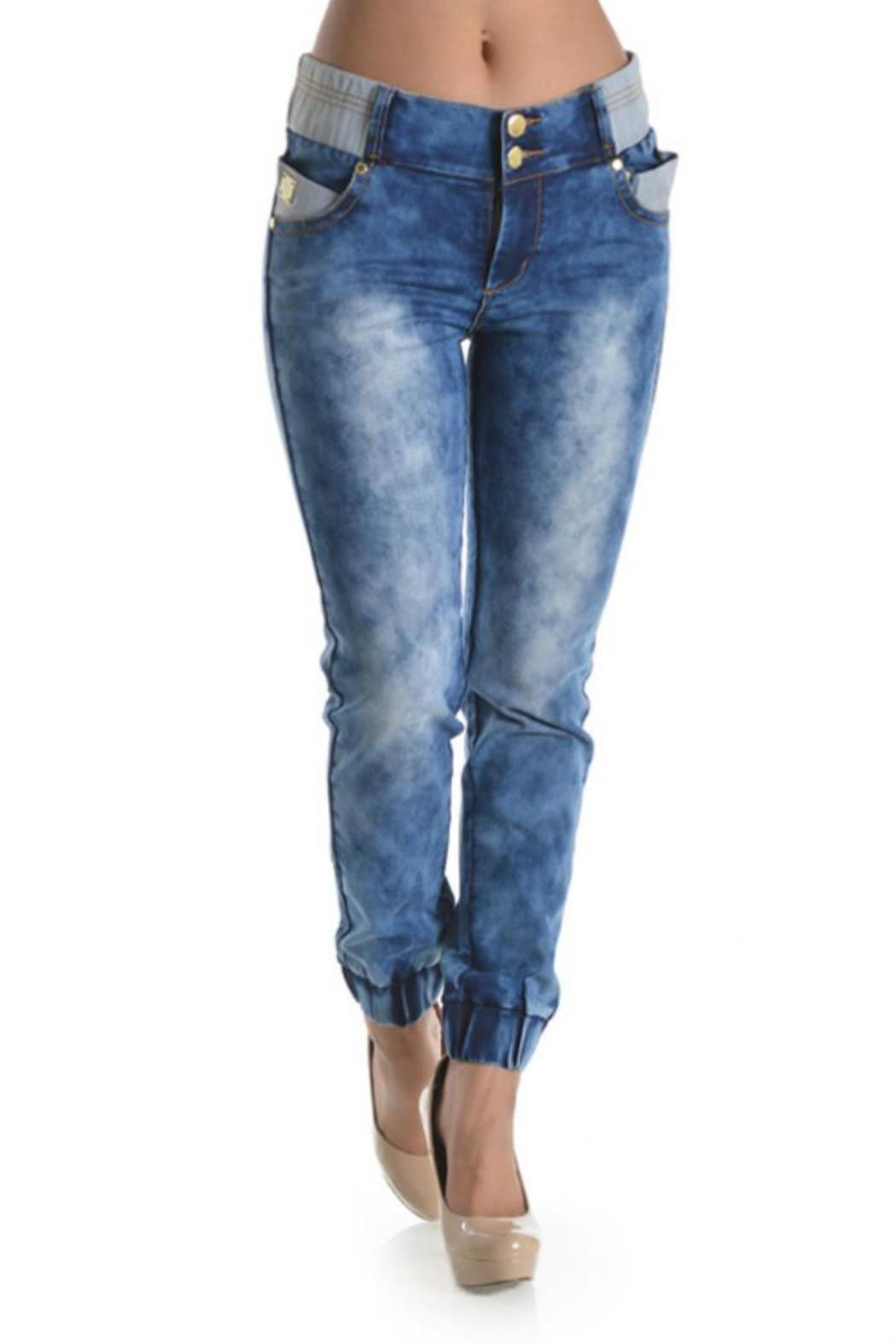 Lydia's Beryl Denim Joggers - Front Cropped Image