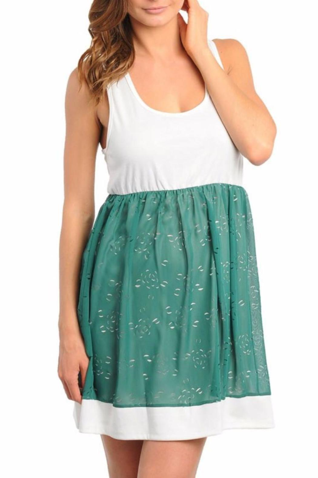 Lydia's Beryl Go Green Dress - Side Cropped Image