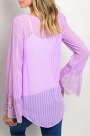 Lydia's Beryl Living Lavender Blouse - Product Mini Image