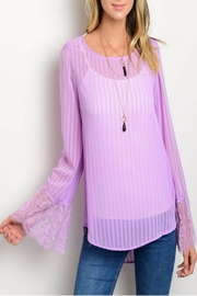 Lydia's Beryl Living Lavender Blouse - Front cropped