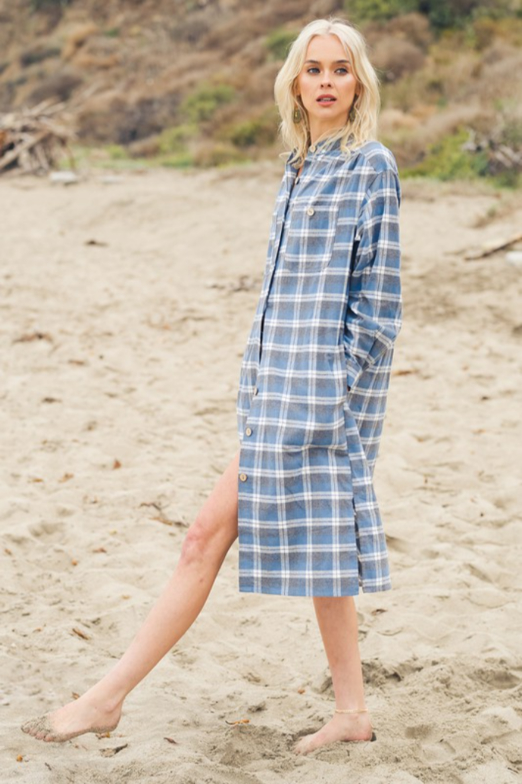 Listicle Layered in Plaid - Front Full Image