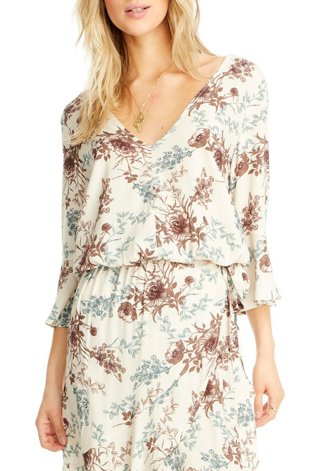 Saltwater Luxe Lyla 3/4 Bell Sleeve Blouse - Main Image