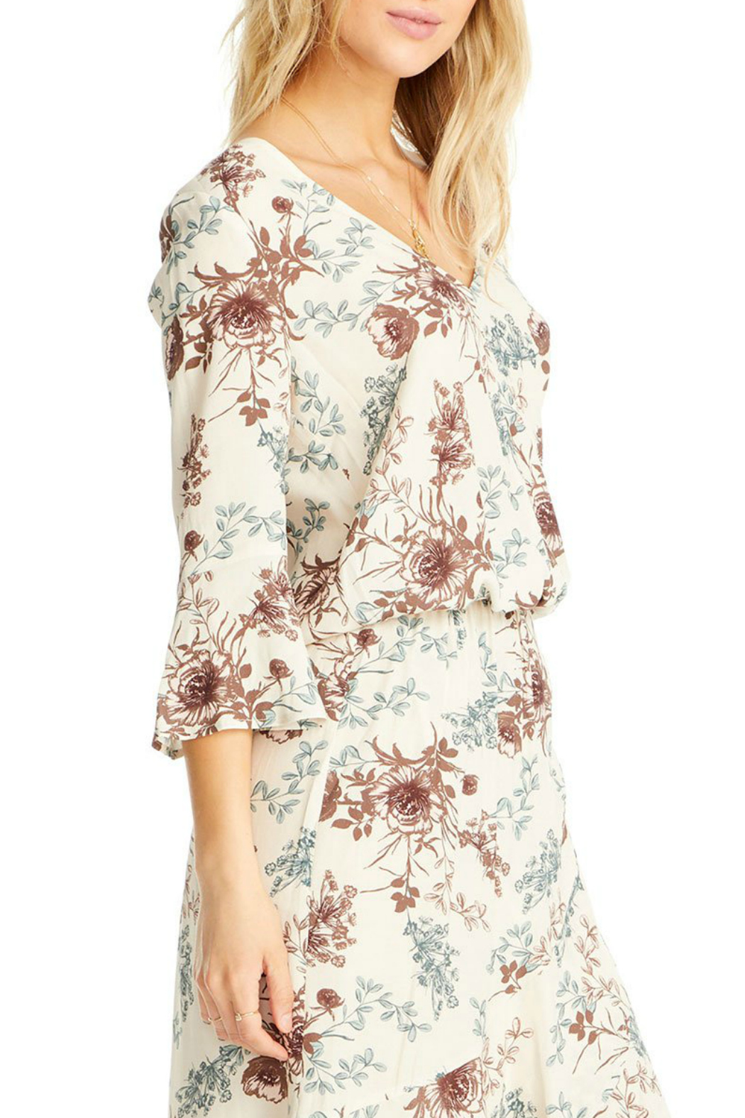 Saltwater Luxe Lyla 3/4 Bell Sleeve Blouse - Front Full Image