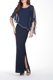 Lyman Chiffon Drape Evening Gown - Product Mini Image