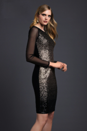 Lyman Knit Sequins Dress - Product Mini Image