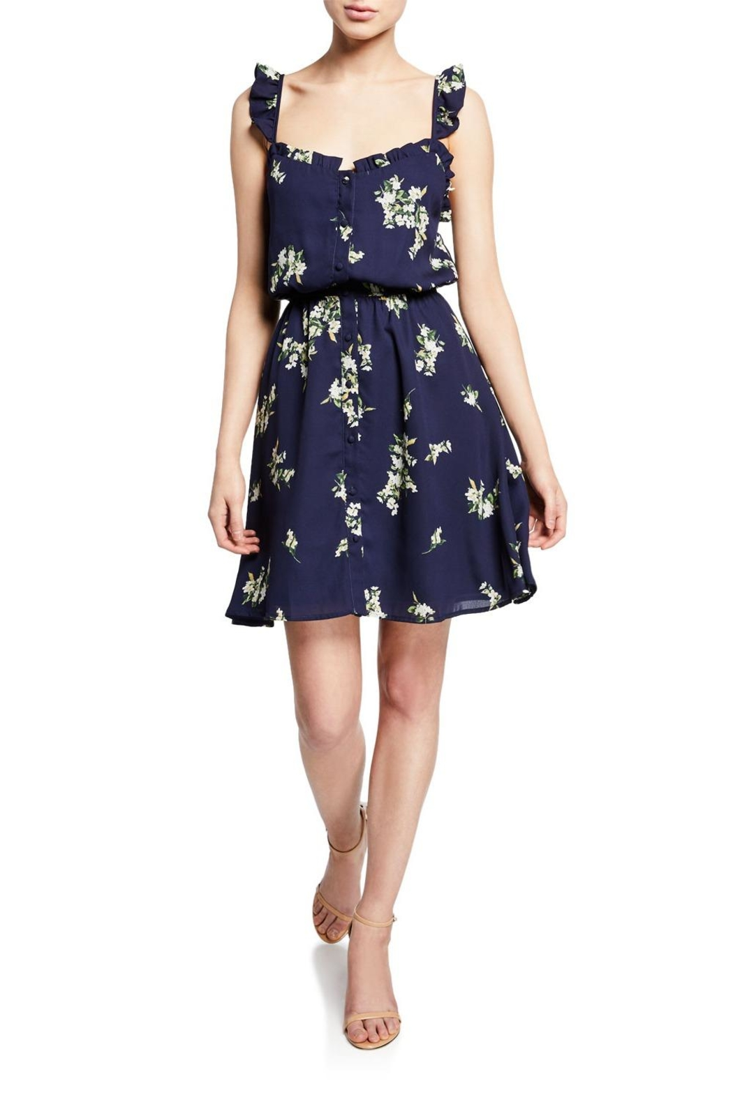 Cupcakes & Cashmere Lynette Floral Dress - Front Cropped Image
