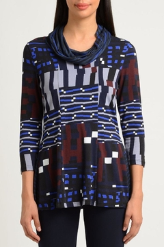 Lynn Ritchie Abstract Cowl Top - Alternate List Image