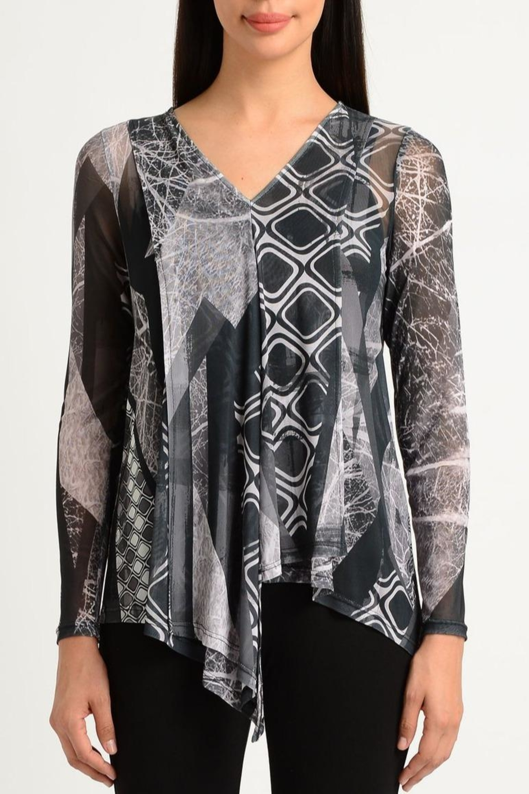 Lynn Ritchie Abstract Mesh Top - Main Image