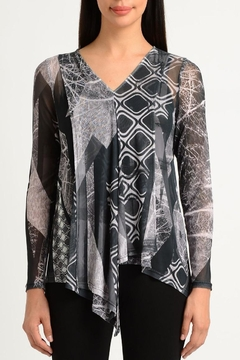 Lynn Ritchie Abstract Mesh Top - Alternate List Image