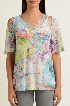 Lynn Ritchie Colorful Mesh Top - Alternate List Image