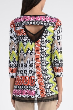Lynn Ritchie Colorful Mosaic Tunic Top - Alternate List Image