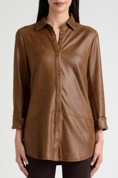 Lynn Ritchie Faux Leather Shirt - Alternate List Image
