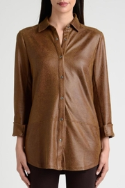 Lynn Ritchie Faux Leather Shirt - Product Mini Image
