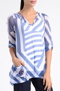 Shoptiques Product: Sheer Stripe Top