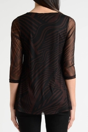 Lynn Ritchie Stripe Flare Top - Front full body