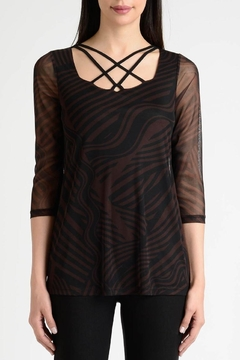 Lynn Ritchie Stripe Flare Top - Product List Image