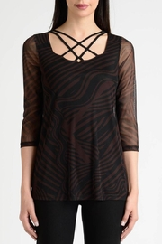 Lynn Ritchie Stripe Flare Top - Front cropped