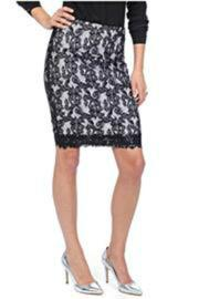 Lyssé Lace Pencil Skirt - Product Mini Image