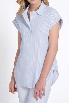 Lyssé Shortsleeve Collared Blouse - Product List Image